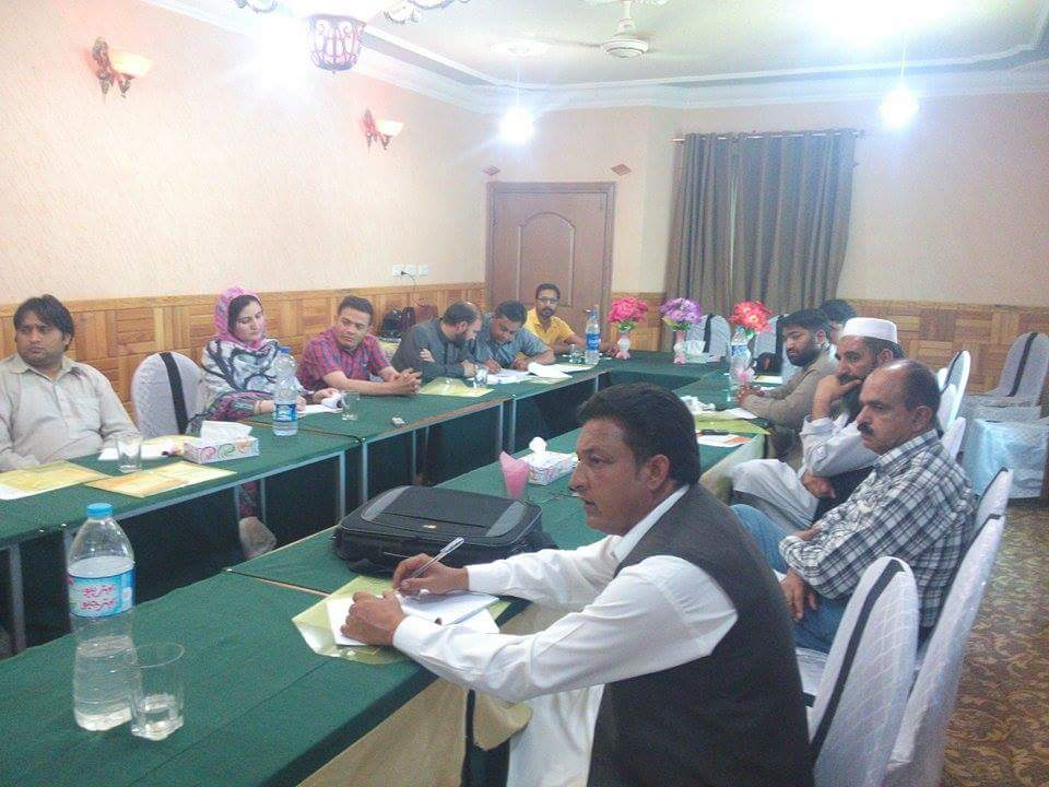 May 26, 2015 Abbottabad Training Workshop for journalists on